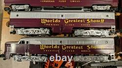 American Flyer Alco PA Diesel ABA set with 6 Passenger Cars custom paint SWEET