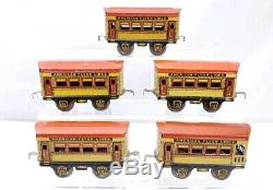 American Flyer Prewar Passenger Car Train Set 4 515 1 513 O Scale