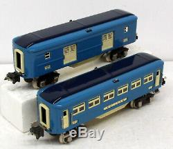 GB MTH Tinplate 10-1062-1 Blue Comet Steam Engine with 4-Car Passenger Set OB