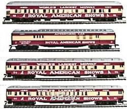 HO Scale ROYAL AMERICAN SHOWS 8 Car Circus Carnival Heavyweight Set IHC New