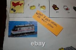 LEGO Metroliner Trains 9V 10001 & 10002 w Box, Instructions-Mostly Complete
