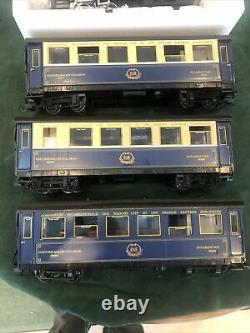 LGB 20277 Orient Express Passenger Set 1987. Gray 2070D Loco & 3 Numbered Cars